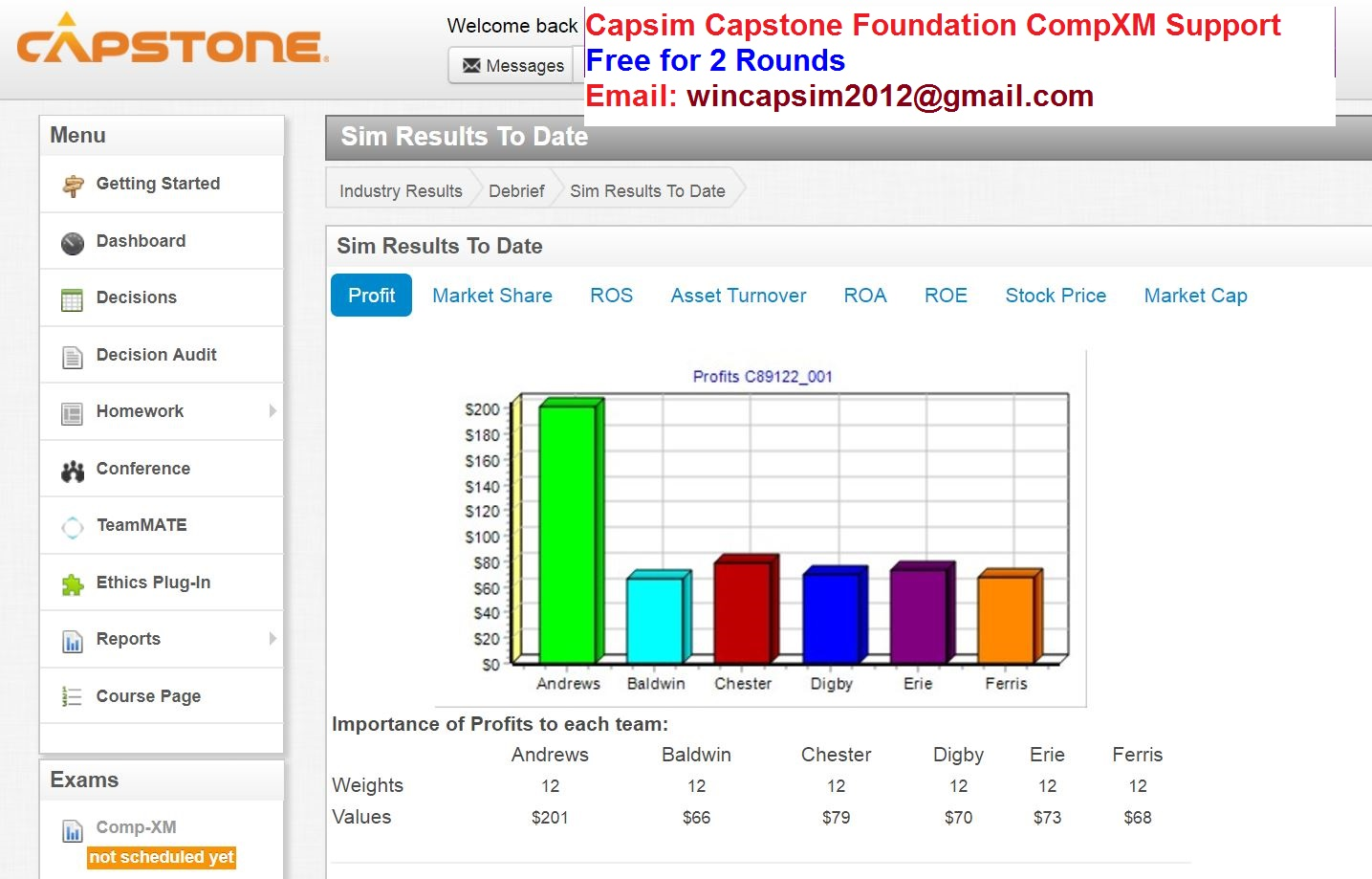 capsim niche differentiator round 1