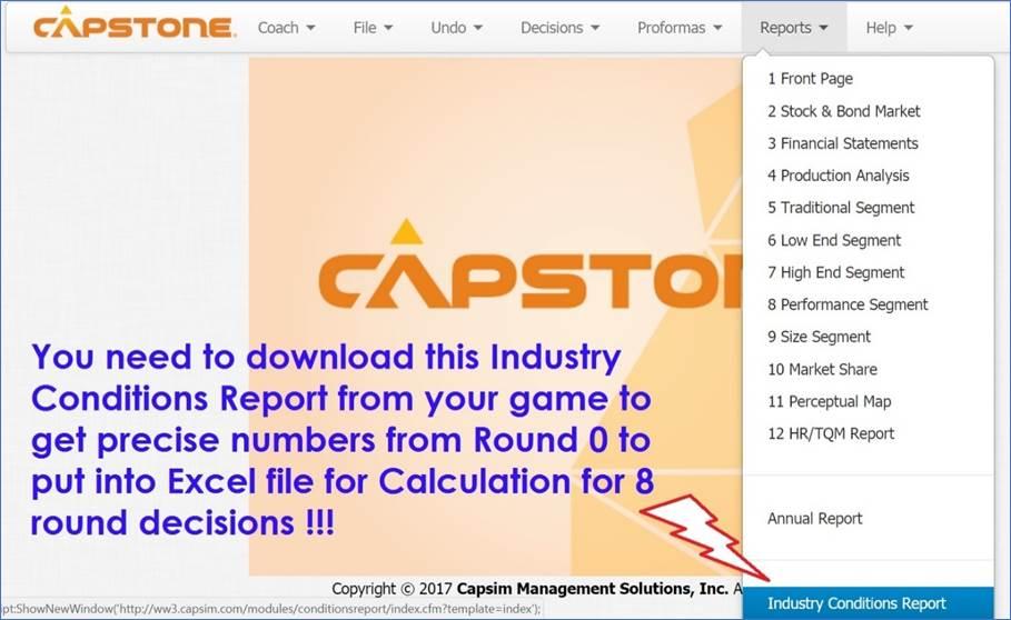 capsim financial analysis
